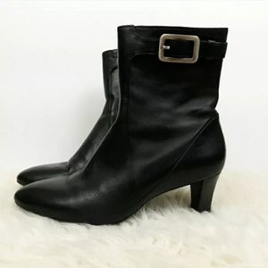 Cole Haan Nike Air 'Lynda' Black Leather Boots
